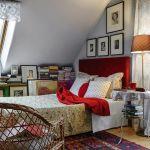sypialna w stylu rustykalnym