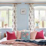 pastelowe kolory ścian w sypialni