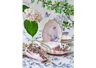 Talerzyk deserowy i czarka Beztroskie południe różowy