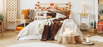 10 pomysłów na jesienne dekoracje do sypialni