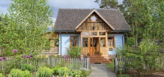 dom w stylu wiejskim z werandą