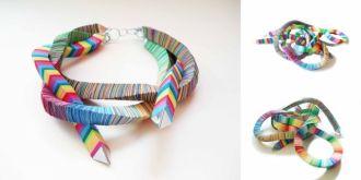 Recyklingowa biżuteria z papieru