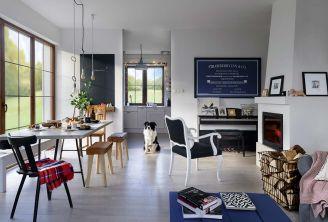 Czarno-białe wnętrza urządzone dekoracjami DIY