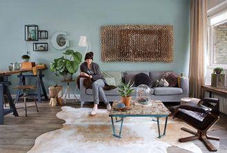 Zielony dom w Holandii w stylu skandynawskim