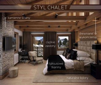 Styl chalet - górska chatka w wersji de luxe