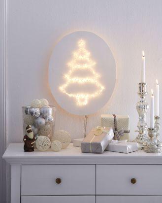 Świąteczna lampka z choinką