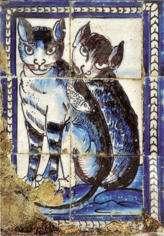 Koty w dekoracji Azulejos