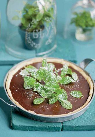 Tarta czekoladowa z miętą