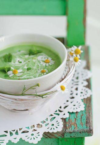 Zupa miętowo-groszkowa