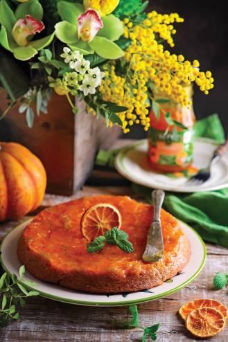 placek z mandarynkami