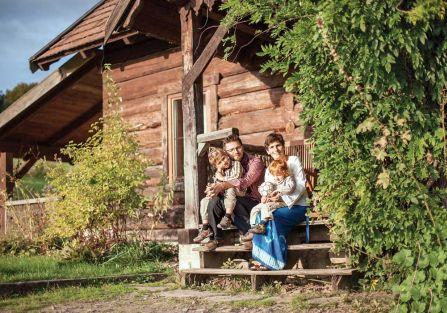 Szczęśliwa zagroda w Bieszczadach