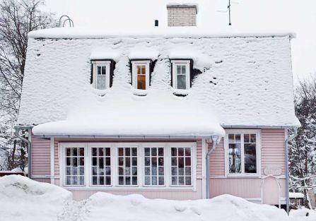 Różowy domek w Finlandii
