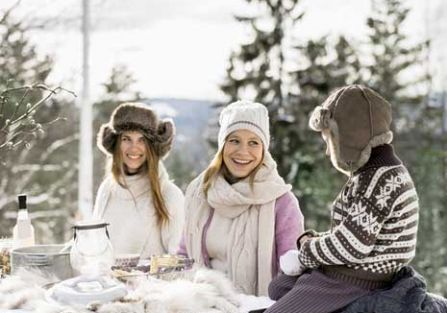 Piknik na śniegu