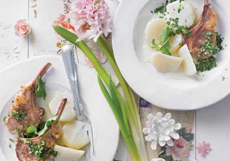 Kotleciki jagnięce z ziołową gremolatą