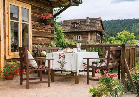 Rodzinne Szpilkowo - dom w stylu rustykalnym