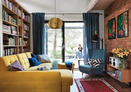 Mazury: energooszczędny dom szkieletowy, w którym mieszka sztuka