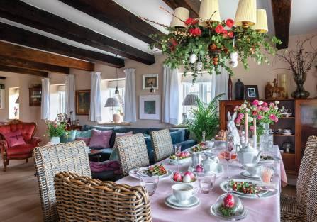 Dania:  wielkanoc w chatce hobbita, czyli dom w wiejskim stylu