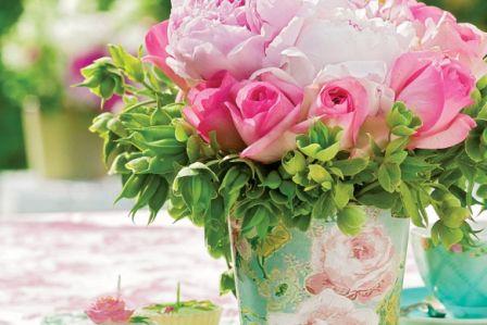 Róża i peonia