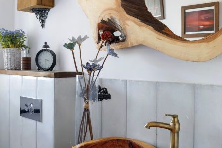 stolik plaster drewna