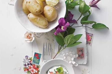 Ziemniaki z twarożkiem ziołowym