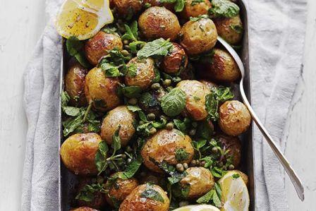 Pieczone ziemniaki z miętą