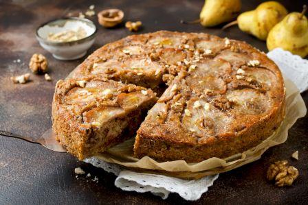 ciasto gruszkowo orzechowe
