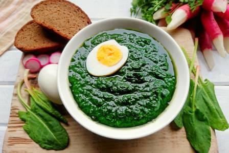 zupa szczawiowa wege