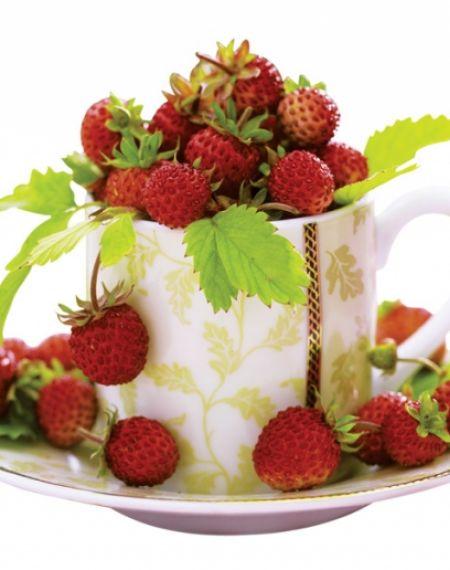 Herbata z poziomek i sok poziomkowy