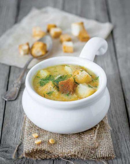 Zupa z ziemniaków i kurek