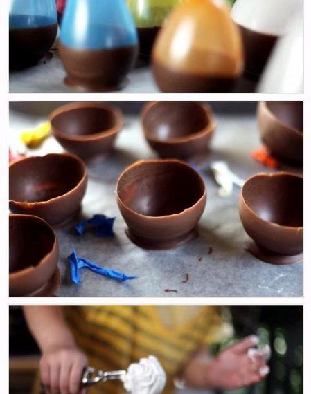 Małe czekoladowe miseczki