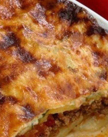 Prawie-bolońska zapiekanka z ziemniakami