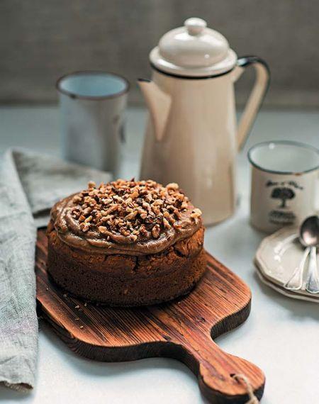 Ciasto owsiane z dynią i orzechami w karmelu
