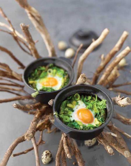 Jajka zapiekane z warzywami