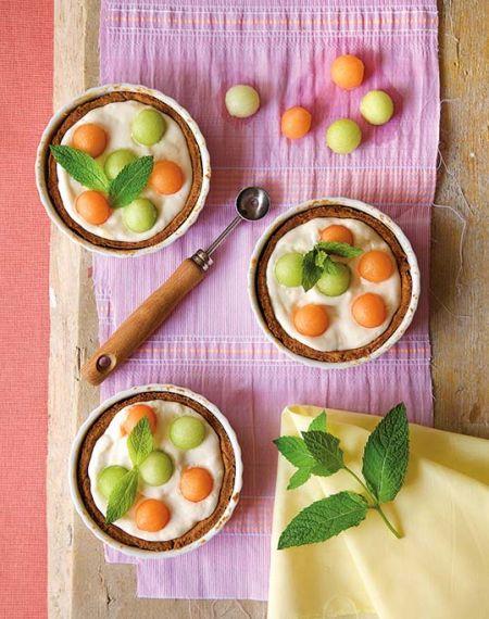 Tarta z melonem i mascarpone