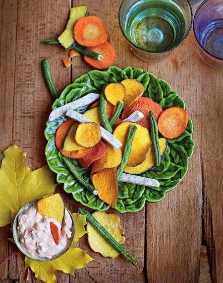 Domowe czipsy z warzyw