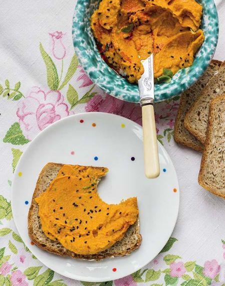 Pasta kanapkowa z marchewki pieczonej