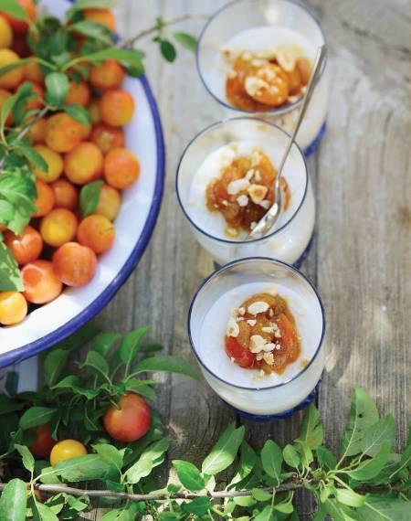 pudding ryzowy z mirabelkami