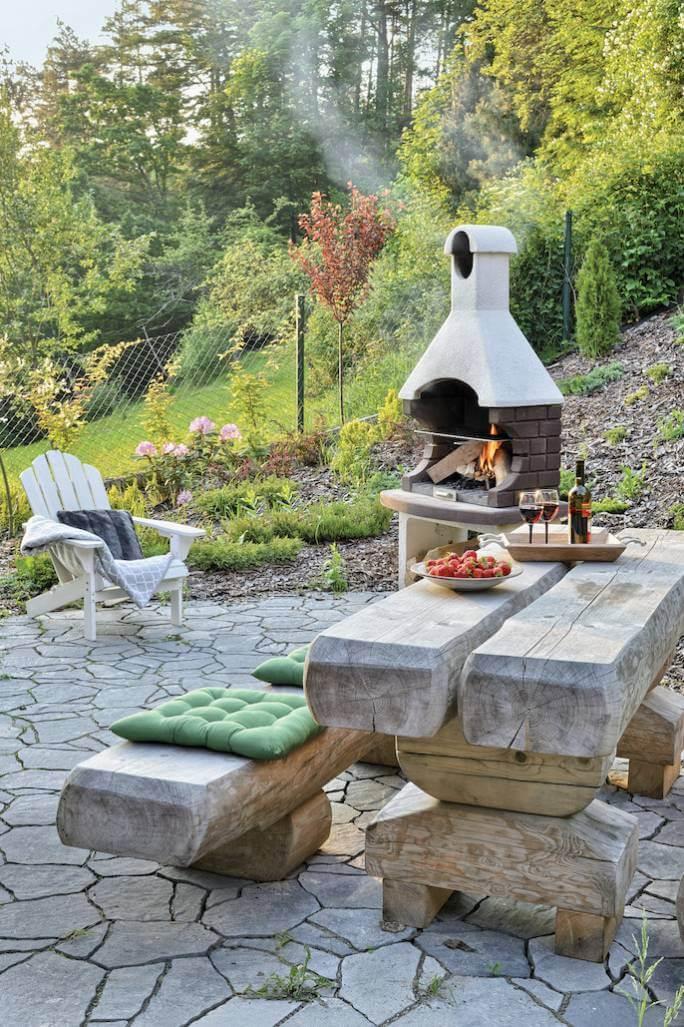 grill ogrodowy z kamienia