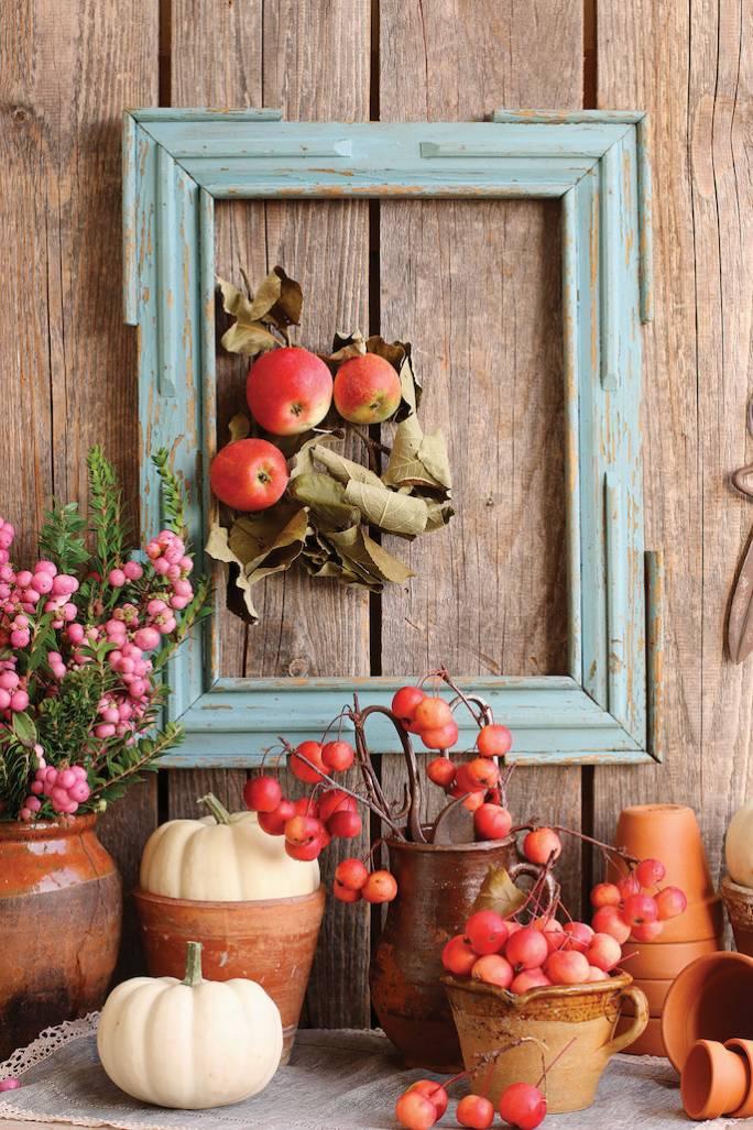 dekoracje z jabłek