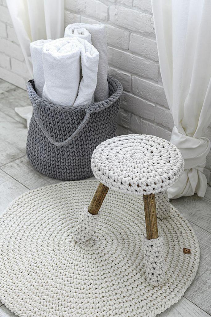 dywaniki z włóczki