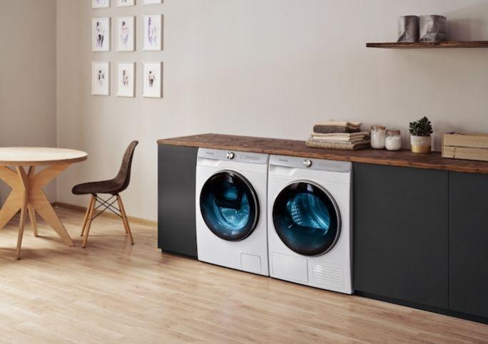 szafka pod umywalkę z blatem zakrywającym pralkę