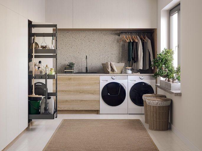 nowoczesna pralnia w domu