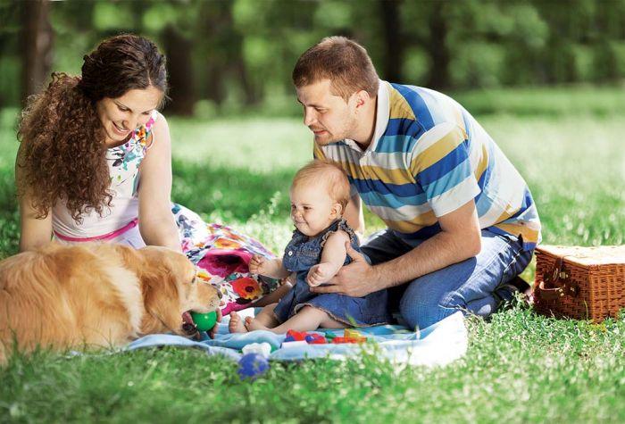 Dziecko i pies w jednym domu