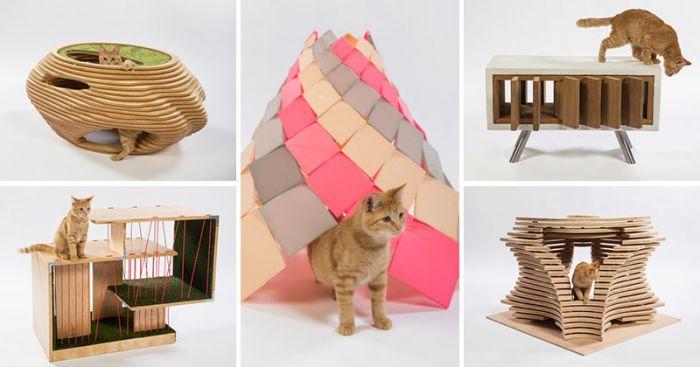 Designerskie domki dla kotów