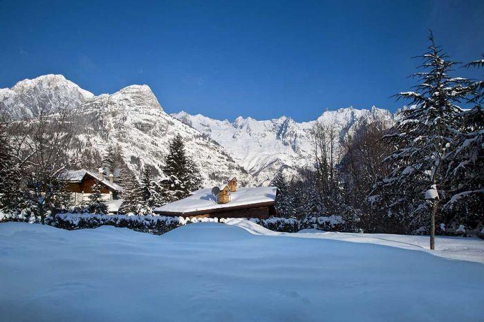 Dom z widokiem na Mont Blanc