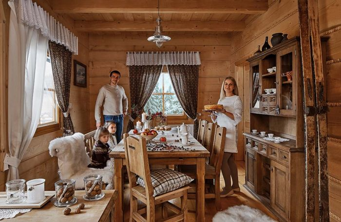 Święta w drewnianym domku pod Tatrami