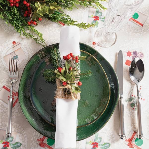 dekoracja stołu wigilijnego