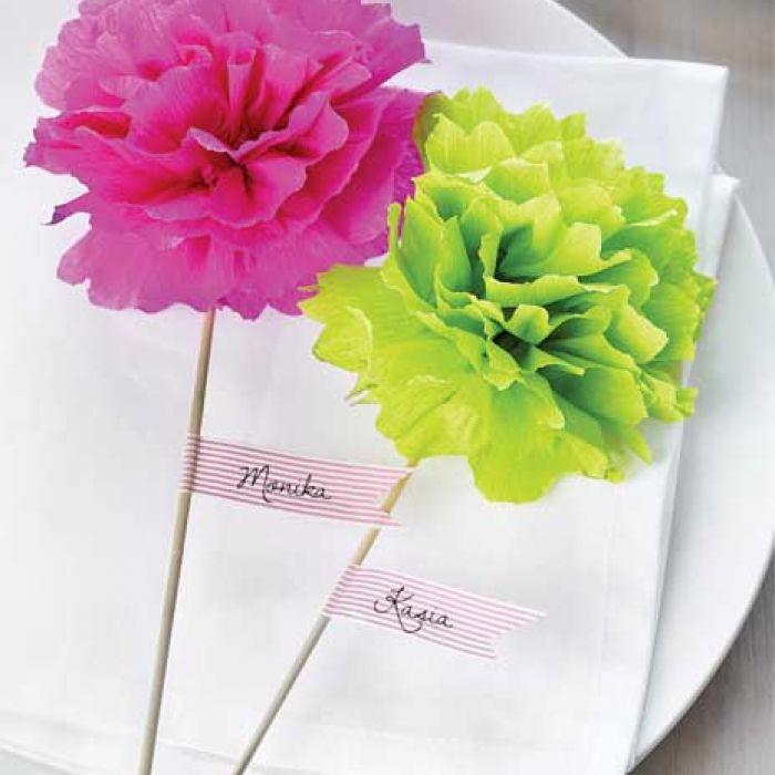 Papierowe kwiaty - zrób to sam