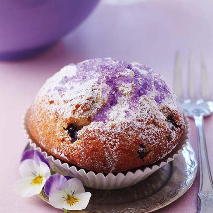 Muffinki z cukrem kwiatowym