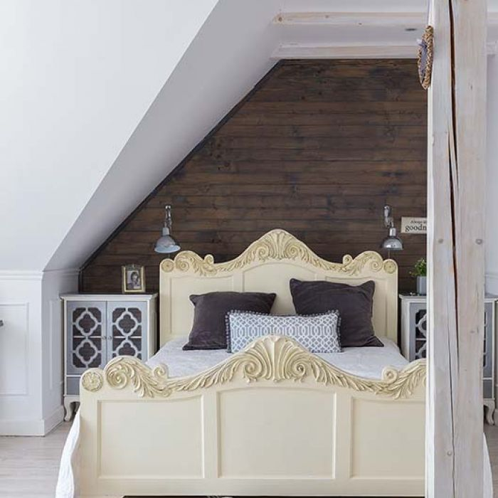 Sypialnia mała i dobrze urządzona